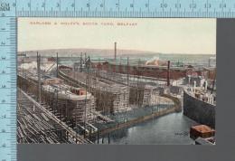 Belfast - Harland & Wolff's South Yard, Shipbuilding Shipyard - ED: Valentine #74705 -  CPA - Antrim / Belfast
