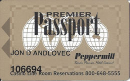 Peppermill Casino - Reno, NV -Slot Card - Casino Cards