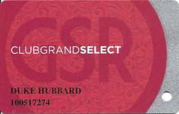 Grand Sierra Casino - Reno, NV - Slot Card With 01 Over Mag Stripe - Casino Cards