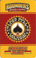 Rounders Grilling & Gaming Co. - Las Vegas, NV - Golden Dollar Rewards Slot Club Card 45x9mm Barcode - Casino Cards