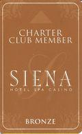 Siena Casino - Reno, NV USA - BLANK Slot Card - Casino Cards