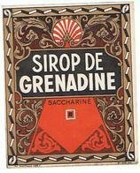 ETIQUETTE  SIROP DE GRENADINE SACCHARINE     ****   A   SAISIR     ***** - Labels