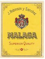 ETIQUETTE  MALAGA  J ROBINSON Y SANCHEZ    ****   A   SAISIR     ***** - Labels