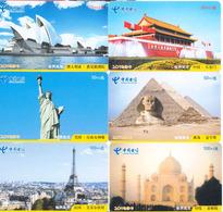 China,world Scenery,password Cards,used - Chine