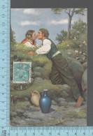 Peinture - Rendez-vous, Par Aug. Xavier Carl Von Pettenkofen ED: Stengel & Co #47019, Cover Brazil 1935 - Peintures & Tableaux