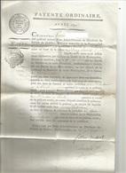 DISTRICT DE CADILLAC , COMMUNE DE SOULIGNAC : PATENTE ORDINAIRE 1791 - France