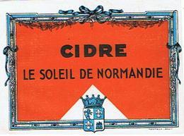 EIQUETTE   CIDRE LE SOLEIL DE NORMANDIE    ****   A   SAISIR     ***** - Labels