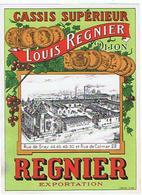 EIQUETTE   CASSIS LOUIS REGNIER DIJON    ****   A   SAISIR     ***** - Labels