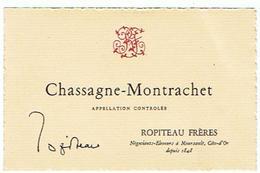 EIQUETTE   VIN CHASSAGNE MONTRACHET  A MEURSAULT   ROPITEAU FRERES COTE D OR ****   A   SAISIR     ***** - Bourgogne