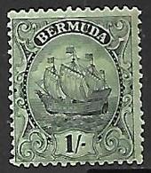 Bermuda   1927  Sc#92   1sh  MH   2016 Scott Value $8.50 - Bermuda