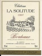 BORDEAUX    1997  CHATEAU LA SOLITUDE (4) - Bordeaux