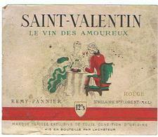 EIQUETTE SAINT VALENTIN LE VIN DES AMOUREUX ST HILAIRE ST FLORENT MAINE ET LOIRE ****   A   SAISIR     ***** - Labels
