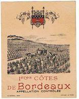 EIQUETTE BORDEAUX  1 ERES  COTES  ****   A   SAISIR     ***** - Bordeaux