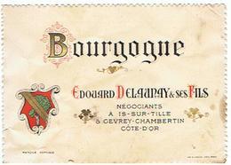 EIQUETTE BOURGOGNE EDOUARD DELAUNAY ET SES FILS A IS SUR TILLE  ET GEVREY CHAMBERTIN ****   A   SAISIR     ***** - Bourgogne