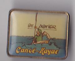 PIN'S   THEME CANOE KAYAC CLUB DE SAINT ASTIER  EN DORDOGNE - Canoeing, Kayak
