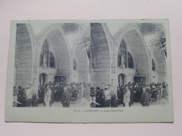 LOURDES - Les Piscines ( 212 ) Anno 19?? ( Zie Foto Voor Details ) ! - Stereoskopie