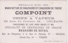 CHROMO MANUFACTURE DE CHAUSSURES ET CHAUSSONS DE TRESSE COMPOINT - USINE A VAPEUR - ORLEANS ET VIERZON - Other