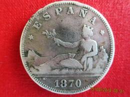Espagne, 2 Pesetas Gouvernement Provisoire, 1870/74, B+ - [ 1] …-1931 : Kingdom