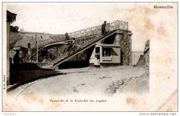 CPA 50 GRANVILLE PASSERELLE DE LA TRANCHEE DES ANGLAIS ANIMEE MILITAIRE PRECURSEUR B.F. PARIS - Granville