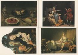 LOT DE 4 CARTES NEUVE MUSEE DE SAINT OMER OFFERTE PAR LA LOTERIE NATIONALE - Paintings