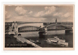 Vintage RealPhoto Postcard Of The Hohenzollern Bridge, Cologne, Germany, MINT , Lot # G48 - Bridges