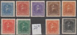 EL SALVADOR - 1893 President Carlos Ezeta Set Less 25c. Scott 76-85. Mint - El Salvador