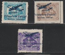 ECUADOR - 1947 Overprinted With Plane  Officials. Essays? Scott O202-O204. Mint No Gum - Ecuador