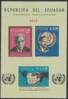 ECUADOR - 1966 IMPERF Kennedy/Churchill Souvenir Sheet. Scott 753a. MNH ** - Ecuador