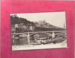 274 . LYON . LE PONT D'AINAY + PENICHE DE REMORQUAGE AU 1er PLAN  . CARTE NON ECRITE - Lyon