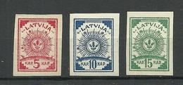LETTLAND Latvia 1919 Michel 3 - 5 B * - Latvia