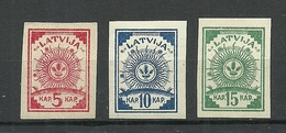 LETTLAND Latvia 1919 Michel 3 - 5 B * - Lettland