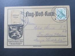 DR Flugpost 1912 Flug-Post-Karte Germania Flugpost Am Rhein U. Main. Postluftschiff Schwaben - Briefe U. Dokumente