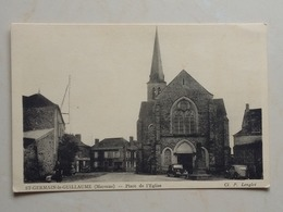 CPA Saint Germain Le Guillaume  ( Mayenne) Place De L'Eglise - France