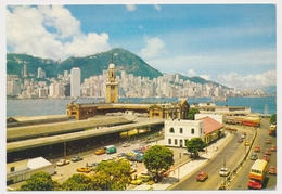 HONG KONG - Kowloon Canton Railway Station Terminal, Vintage Old Postcard - Chine