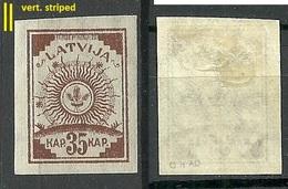 LETTLAND Latvia 1919 Michel 21 Vertically Striped Paper Geriffeltes Papier * - Lettland