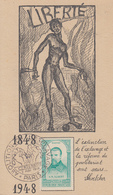 Carte  Maximum  FRANCE    ALBERT   Abolition  De   L' Esclavage   PARIS   1948 - Maximum Cards