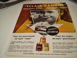 ANCIENNE PUBLICITE DESSERT FRAIS ECLAIR DANONE 1963 - Publicités