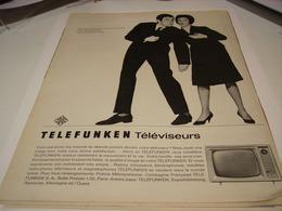 ANCIENNE PUBLICITE TELEVISEUR TELEFUNKEN   1963 - Music & Instruments
