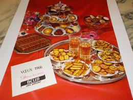 ANCIENNE AFFICHE PUBLICITE  BISCUIT APERITIF DE BELIN 1966 - Posters