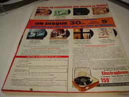 ANCIENNE PUBLICITE DISQUES POUR LE PRIX 5 FRANCS 1963 - Music & Instruments