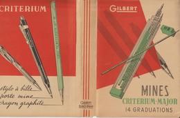 PROTEGE  LIVRE -- GILBERT - MINES . CRITERIUM MAJOR - PLUMES GILBERT BLANZY POURE - STYLO - CRAYON - Voir Les 7 Scannes - Books, Magazines, Comics