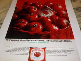 ANCIENNE PUBLICITE SAUCE TOMATE DE CROSSE BLACKWELL 1966 - Posters
