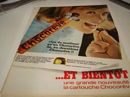ANCIENNE AFFICHE PUBLICITE BARRE CHOCOREVE 1966 - Posters