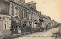 ENVIRONS DE PONT L'EVEQUE - SAINT GATIEN DES BOIS (14) ARRET DE L'AUTOMOBILE TROUVILLE HONFLEUR-HOTEL DU CHEVAL BLANC - France