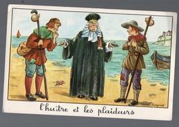Fables De La Fontaine: L'huitre Et Les Plaideurs  (image De Calvet-Rogniat) Format CPA (PPP14423) - Old Paper