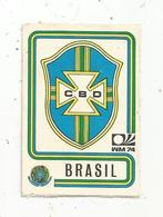 Vignette Autocollante,  FIGURINE PANINI , N° 147 , Coupe Du Monde , MÜNCHEN 74, BRASIL , 2 Scans - Panini