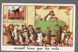 Fables De La Fontaine:: Conseil Tenu Par Les Rats  (image De Calvet-Rogniat) Format CPA (PPP14424) - Old Paper
