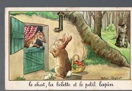 Fables De La Fontaine:: Le Chat, La Belette Et Le Petit Lapin   (image De Calvet-Rogniat) Format CPA (PPP14425) - Old Paper