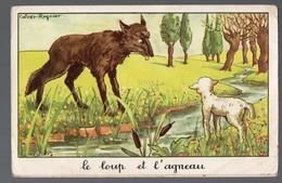 Fables De La Fontaine:: Le Loup Et L'agneau   (image De Calvet-Rogniat) Format CPA (PPP14426) - Old Paper