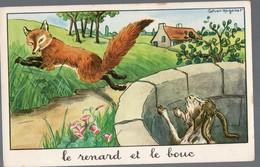 Fables De La Fontaine:Le Renard Et Le Bouc   (image De Calvet-Rogniat) Format CPA (PPP14427) - Old Paper